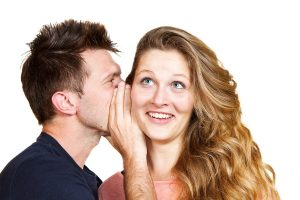 dirty pick up lines man whispering to woman